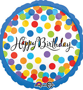 Happy Birthday Confetti Bash Balloon