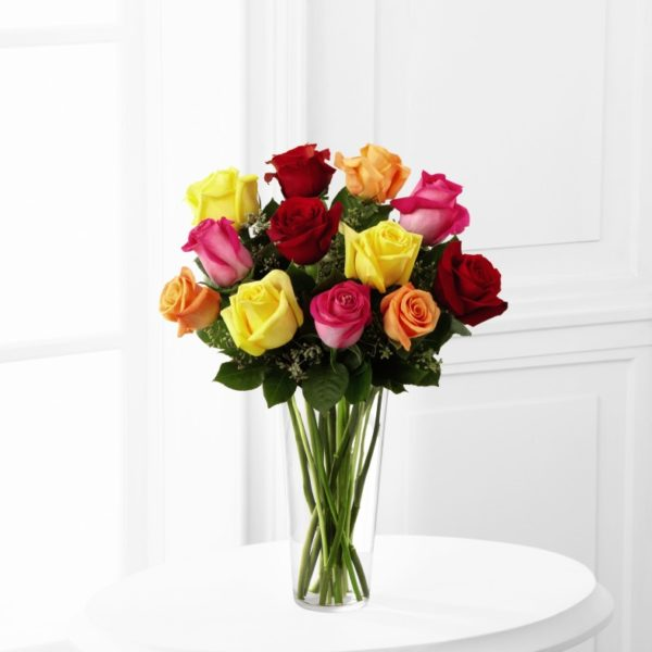 The FTD® Bright Spark™ Rose Bouquet - Churchland Village Flower Shop