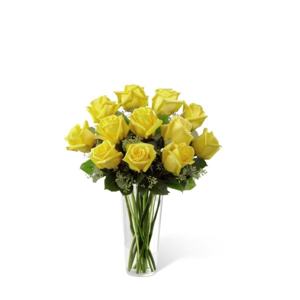 The Yellow Rose Bouquet by FTD® - Churchland Village Flower Shop