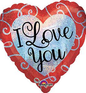 Sparkle Heart Love Balloon