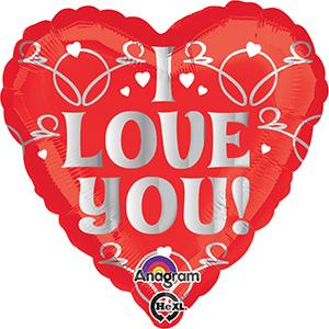 I love you heart shaped balloon